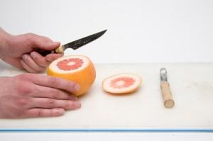 Кальян на грейпфруте первый этап
