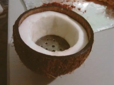 кальян на кокосе - первый этап