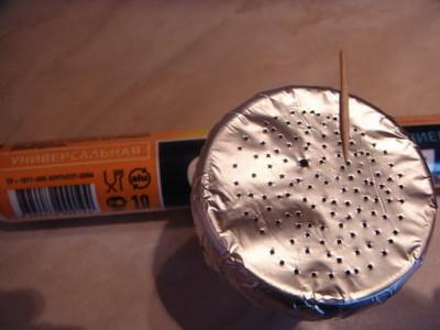 как делать дырки в фольге